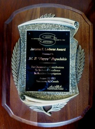 2013 Jerome Lederer Award